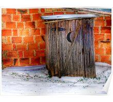 Outhouse - Springtown, Texas Poster