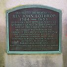 Lothrop Plaque at Lothrop Hill Cemetery by sturgislibrary