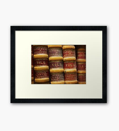Catalogue of Accessions, Sturgis Library Framed Print