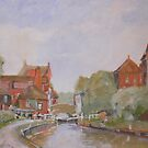 Lock gate Newbury by Peter Lusby Taylor