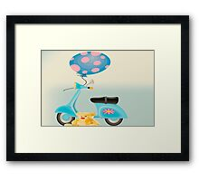 Teddy's Scooter  Framed Print