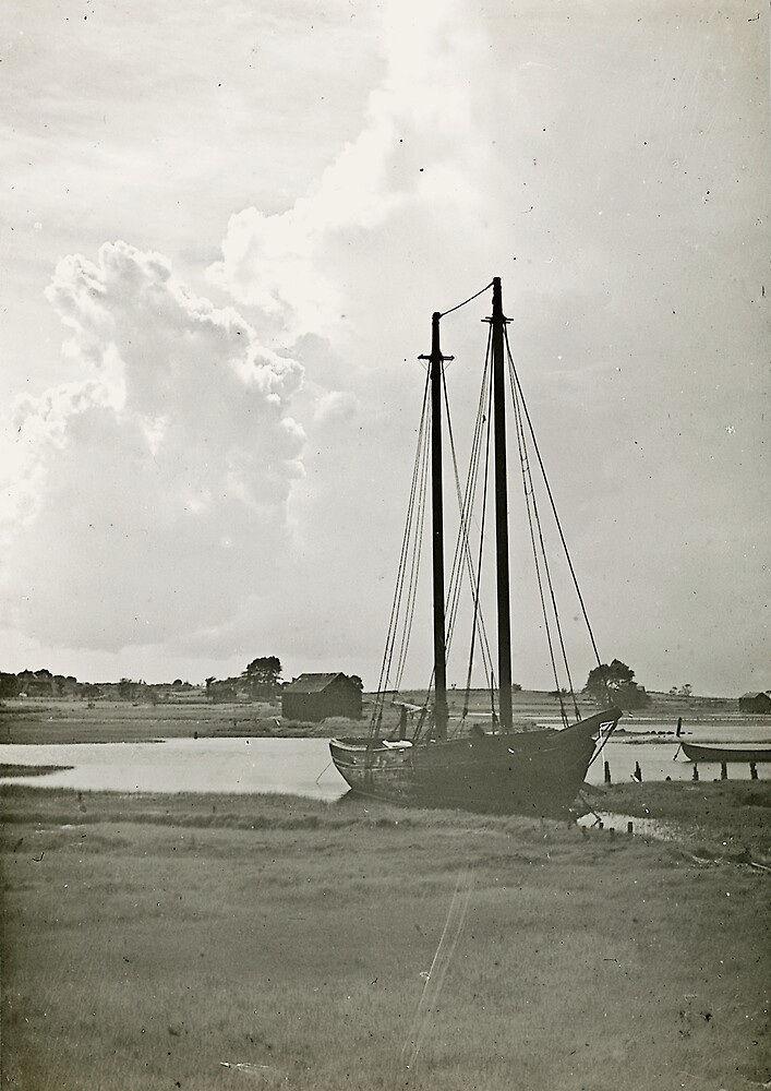 Schooner Bloomer in Barnstable Harbor by sturgislibrary