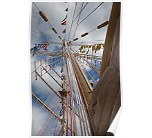Mast of a tall ship Poster