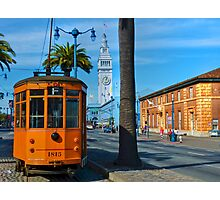 Old San Francisco Cable Car And Ferry Building Photographic Print