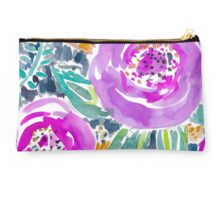 Gardens of Bolinas Purple Floral Studio Pouch
