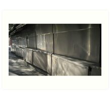 Reflections in metal doors, Siesta-time Art Print