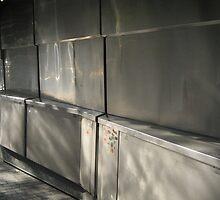 Reflections in metal doors, Siesta-time by KSissy