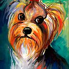 Yorkshire Terrier dog Painting #1 Svetlana Novikova by Svetlana  Novikova