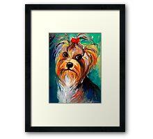 Yorkshire Terrier dog Painting #1 Svetlana Novikova Framed Print