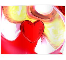 Lonely Heart Abstract Poster