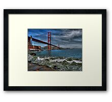 Golden Gate Bridge In Color HDR Framed Print