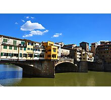 Sunny Ponte Vecchio In Florence Photographic Print