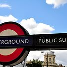 London Underground Sign by April Anderson