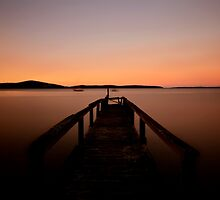 Lagoon at Sunset........Old Jetty by Imi Koetz