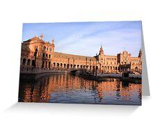 Plaza de Espana pond Greeting Card