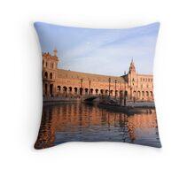 Plaza de Espana pond Throw Pillow