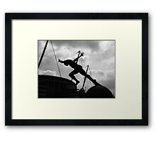 Running Man Framed Print