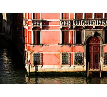 """Venetian Building bathed in the """"Good Light"""" Photographic Print"""