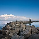 Jordan Harbour Breakwater by Daphne Johnson