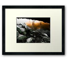 Waves of reflection Framed Print