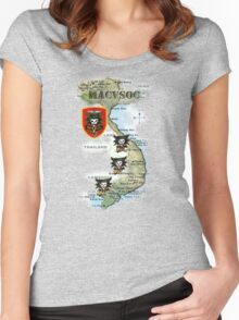 Map of MacVsog's area of operation. Women's Fitted Scoop T-Shirt