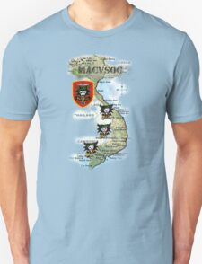 Map of MacVsog's area of operation. T-Shirt