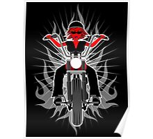 Red Hot Woman: Riding her Motorcycle Poster
