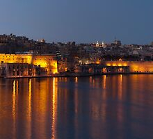 Valletta Sunset Panorama by Robert Mifsud