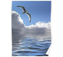 Soaring With The Clouds Poster