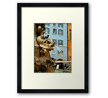 Pantheon Fountain - Rome Framed Print
