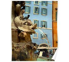 Pantheon Fountain - Rome Poster