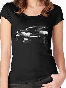 chevrolet corvette c7 Women's Fitted Scoop T-Shirt