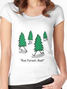 """""""Run Forest, Run!"""" - Forrest Gump Pun Women's Fitted Scoop T-Shirt"""