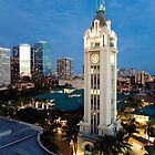 Honolulu's Aloha Tower by RobDeCamp