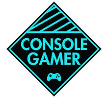 Console Gamer (Blue) Photographic Print