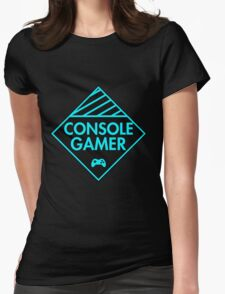 Console Gamer (Blue) Womens Fitted T-Shirt