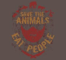 save the animals, EAT PEOPLE Baby Tee