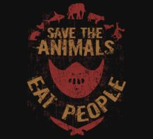 save the animals, EAT PEOPLE One Piece - Long Sleeve