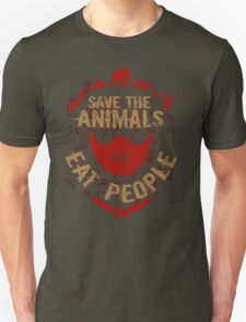 save the animals, EAT PEOPLE Unisex T-Shirt