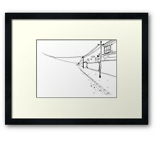 Wire To Nowhere Framed Print