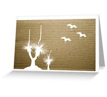 Grass Tree Flying Greeting Card