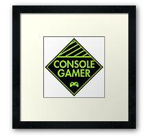 Console Gamer (Green) Framed Print