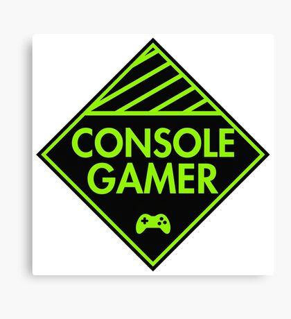 Console Gamer (Green) Canvas Print