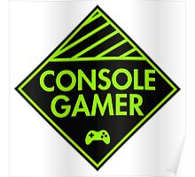 Console Gamer (Green) Poster