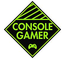 Console Gamer (Green) Photographic Print