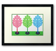 THREE TREES - BRUSH AND GOUACHE Framed Print