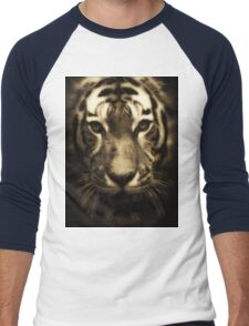 Midnight Tiger Men's Baseball ¾ T-Shirt