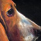 Basset Hound painting Svetlana Novikova by Svetlana  Novikova