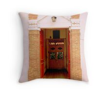 Door with a latin flair Throw Pillow