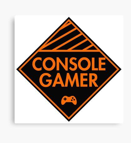 Console Gamer (Orange) Canvas Print